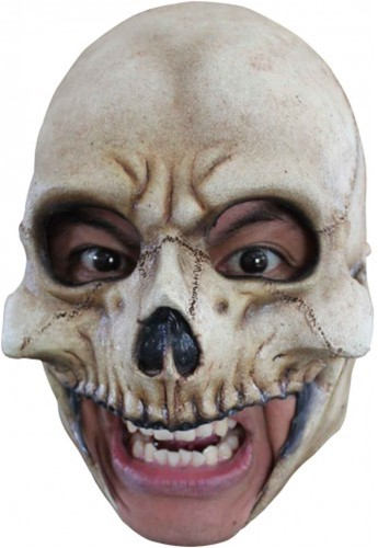 Latex Masker Skull Doodshoofd (Kinloos)