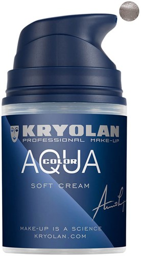 Softcream 50ml Kryolan Silver Aquacolor
