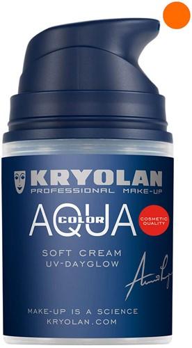 Softcream 50ml Kryolan UV-Oranje Aquacolor