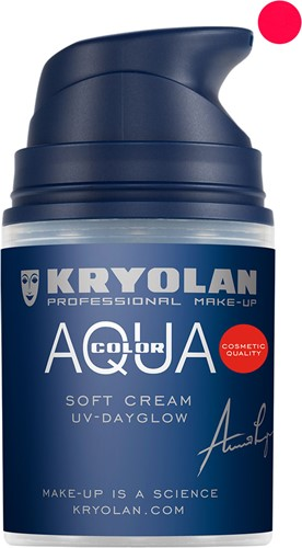 Softcream 50ml Kryolan UV-Rood Aquacolor
