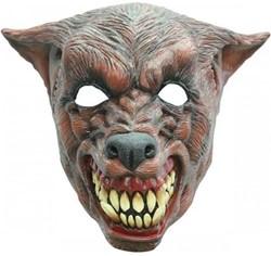 Bruine Wolf Masker Latex Luxe