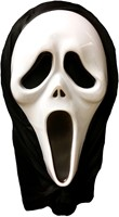 Plastic Masker Scream met Doek
