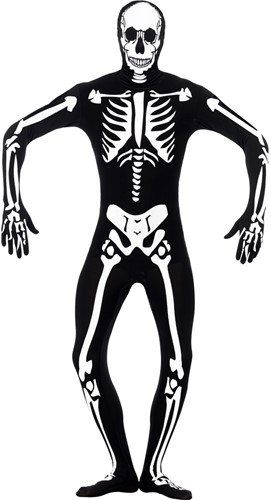 Second Skin Suit Glow in the Dark Skelet