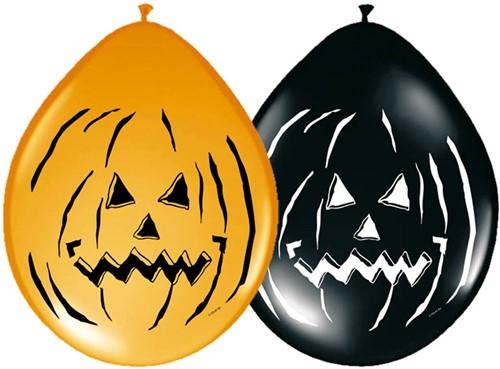 Halloween Pompoen Ballonnen 30cm - 8st.
