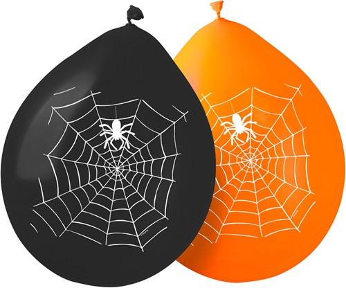 Ballonnen Horror Spin in Spinnenweb (8st)