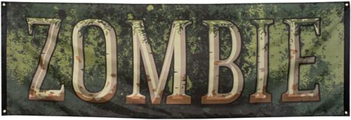 Banner Zombie Groen (74x220cm)