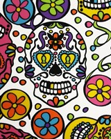 Seventies Heren Blouse Mexican Skulls (Día de Muertos)-2