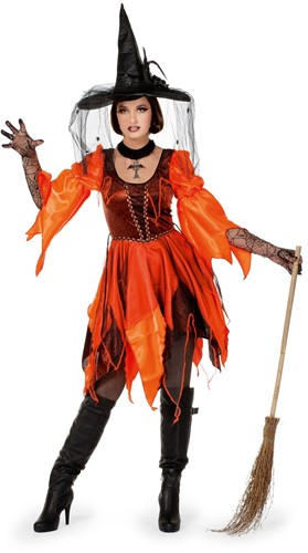 Damesjurk Wicked Witch Oranje