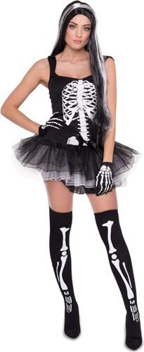 Halloween Skeletten Jurkje met Tutu voor dames