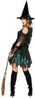 Heksenjurk Groen-Zwart voor dames  -3