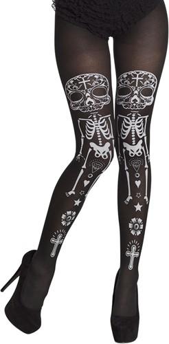Panty La Calaca - Día de Muertos (zwart)
