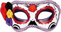 Day of the Dead La Seria Oogmasker (Paars-Rood)