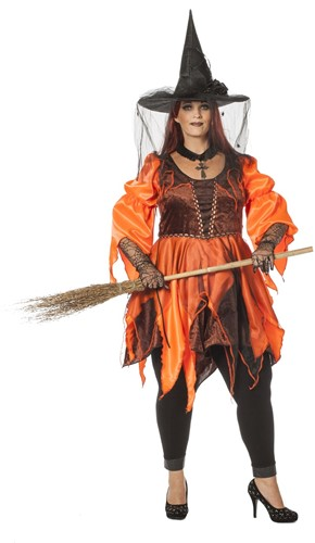 Wicked Witch Oranje/Bruin (plussize)
