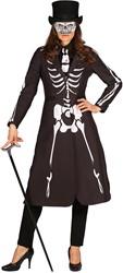 Halloween Jas Skelet Luxe voor dames