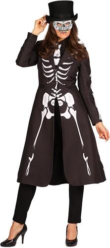 Halloween Jas Skelet Luxe voor dames-2