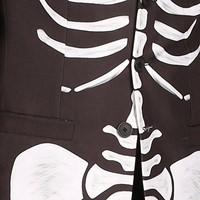 Halloween Jas Skelet Luxe voor dames-3