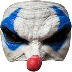 Angry Blue Clown Halfmasker Latex