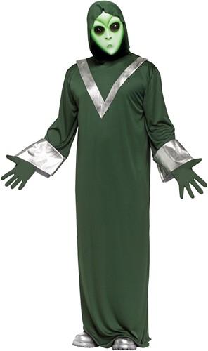 Halloween Kostuum Buitenaardse Alien (3dlg)