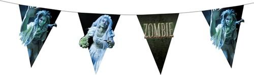 Vlaggenlijn Dubbelzijdig Zombie (4m)