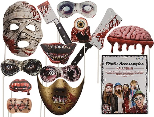 Halloween Photobooth Props Set (12 dlg)