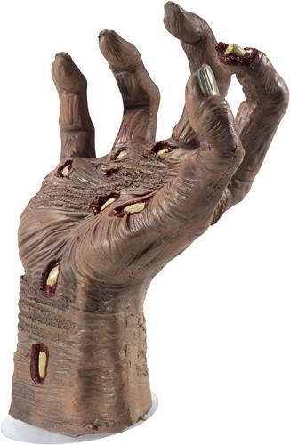 Decoratie Halloween Zombie Hand met Zuignap
