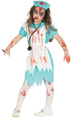 Halloweenkostuum voor Meisjes Zombie Verpleegster