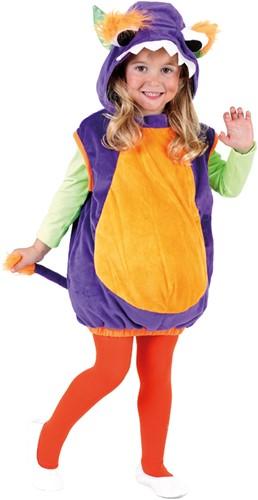 Monster Babypakje Paars-Oranje