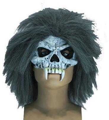 Skull Halfmasker met Haar