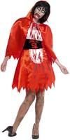Halloweenkostuum Zombie Roodkapje voor dames