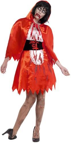 Dameskostuum Zombie Roodkapje Halloween