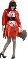 Halloweenkostuum Zombie Roodkapje voor dames -2