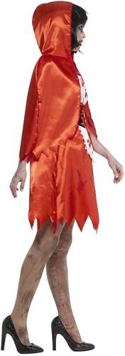 Halloweenkostuum Zombie Roodkapje voor dames -3