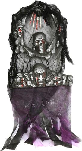 Luxe Decoratie Halloween Deurkrans (120x48cm)