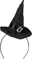 Zwart Heksenhoedje Diadeem met Gesp