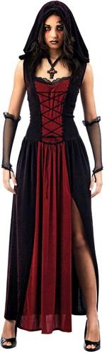 Heksenjurk Gothic Rood/Zwart
