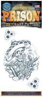 Tattoo Mexicaanse Bandito Skelleton (tijdelijk)