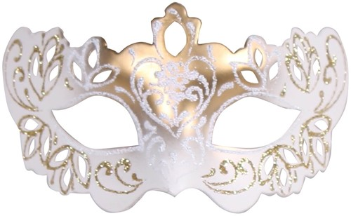 Decoratie Mini Venetiaans Oogmasker Goud