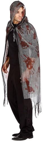 Halloween Cape met Bloed met Capuchon (2 laags) -3