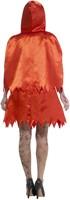 Halloweenkostuum Zombie Roodkapje voor dames (achterkant)
