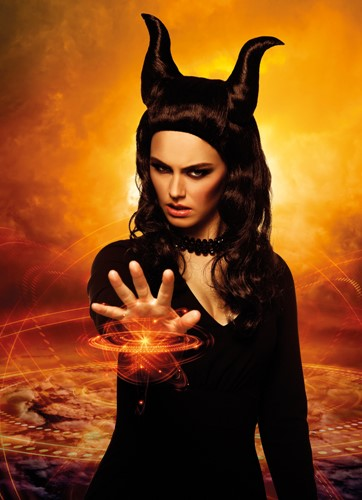 Pruik Demona Maleficent (voorbeeld 2)