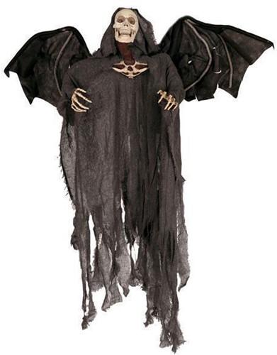 Hangdeco Skull Vleugels Bewegend 100cm (met LED en geluid)