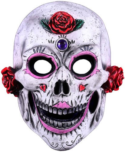 Latex Masker Catrina Roses - Day of the Dead