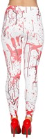 Legging Wit met Bloed-3