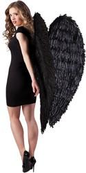 Engelen Vleugels Mega Zwart (120x120cm)