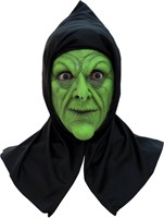 Latex Halloween Masker Wicked Witch met Kap -2