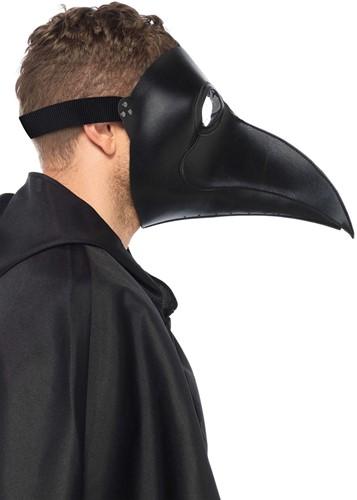 Pestmeester Masker Zwart (Imitatie Leer)