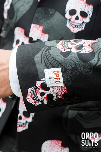 Herenkostuum OppoSuits Skulleton (detail)
