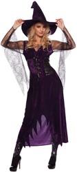 Paarse Heksenjurk met Hoed voor dames