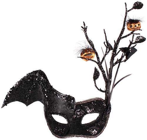 Halloween Oogmasker (Zwart)