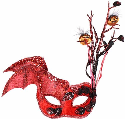 Halloween Oogmasker (Rood)